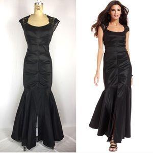 Vintage Xscape Black Mermaid Gown 6 S